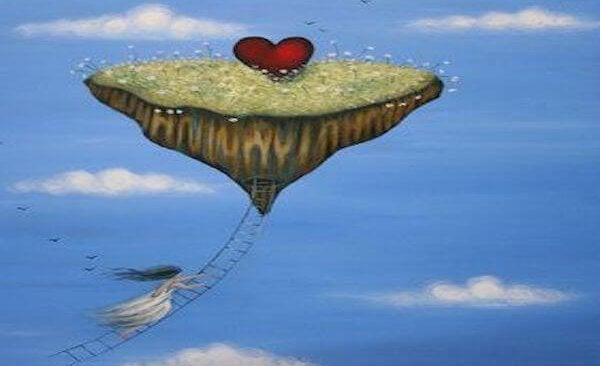 mujer rescatando el corazón