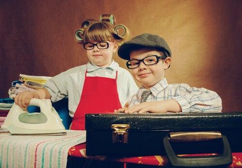 Niños vestidos segun estereotipos