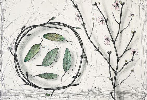 círculo árbol