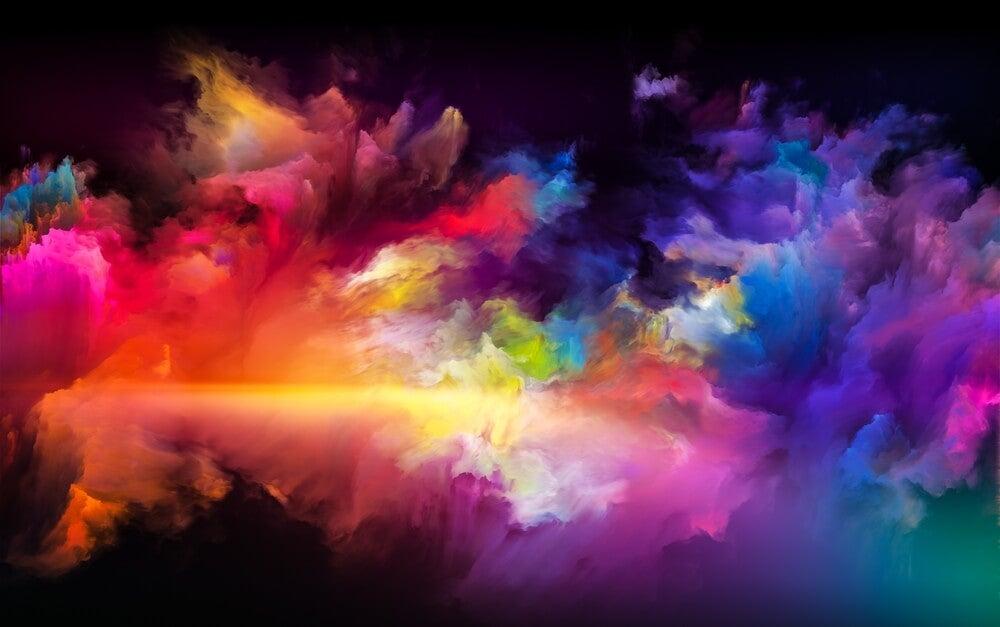 creatividad en forma de paleta de colores