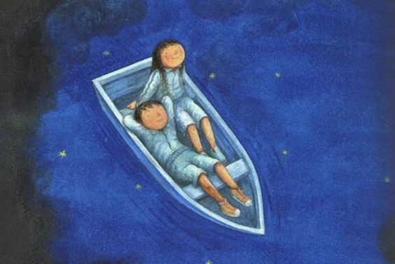 pareja en barco