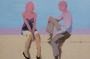 pareja sentada