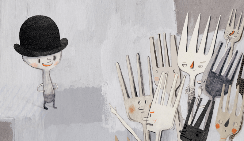 tenedores fomentando odio contra cuchara