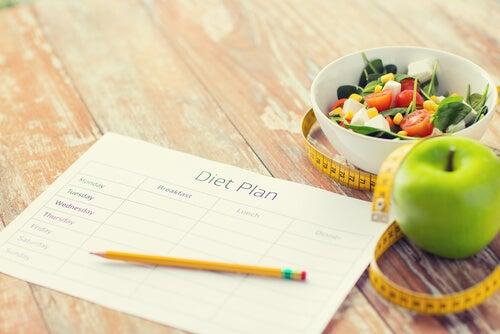 Hoja de plan dieta