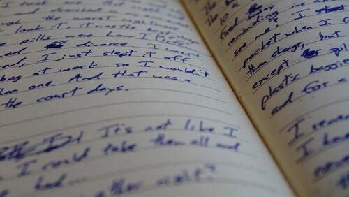 Hojas escritas