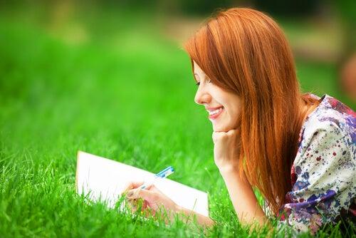 Un diario de gratitud para ser más feliz