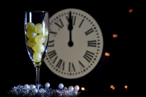 Uvas con reloj
