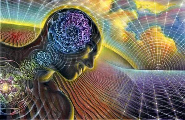 Hombre con cerebro de colores simbolizando la toma de conciencia