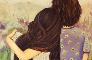 Madre e hija representando caricias emocionales