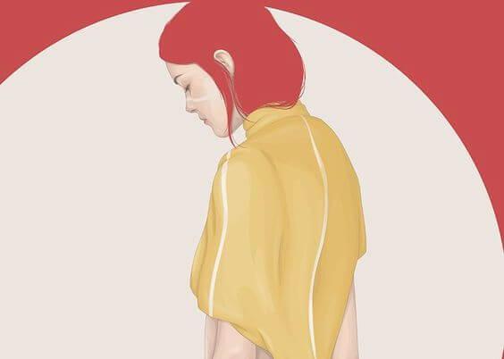mujer cabello rojo
