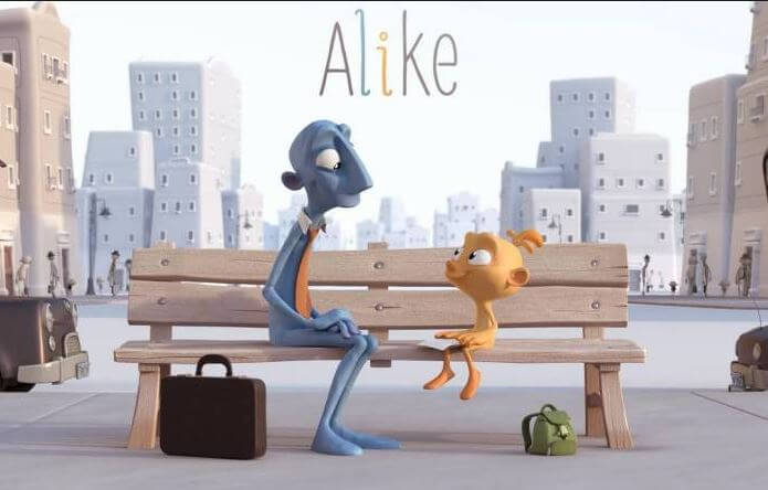 Alike, un corto para reflexionar sobre cómo desaparece la creatividad de los niños