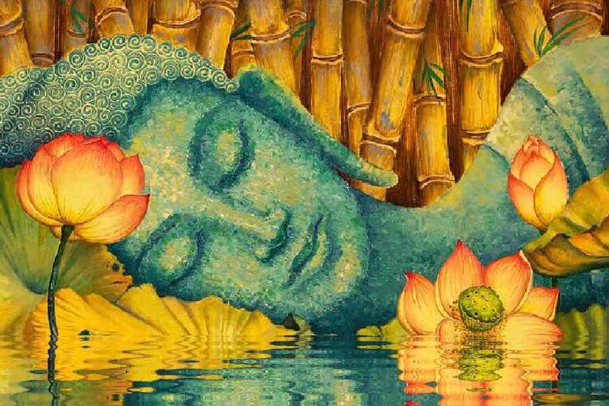 Buda en estado de relajación