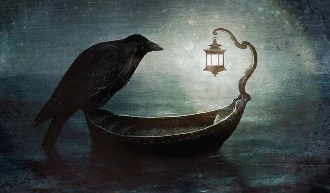 Cuervo simbolizando el miedo a morir