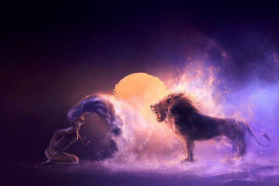 león mujer