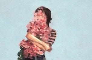 Nujer con flores que no es la de siempre