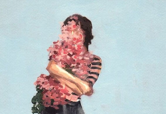Mujer flores