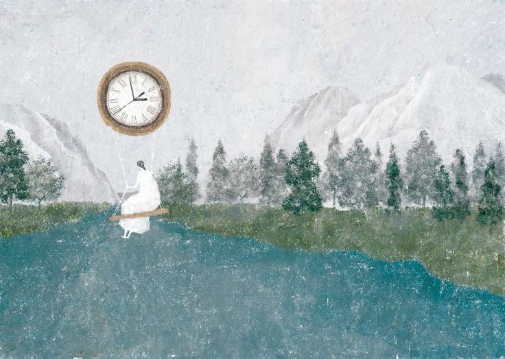 mujer reloj