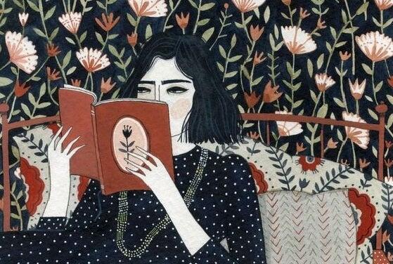 Mujer leyendo representando a las mujeres sabias