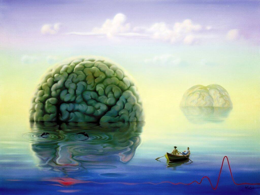 Cerebro en el agua