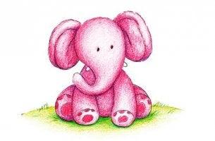 elefanta rosa simbolizando pensamientos recurrentes