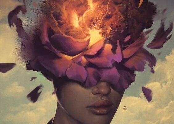 mujer flor cabeza hábitos toxicos