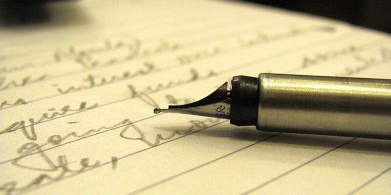 El autor de un texto en blanco