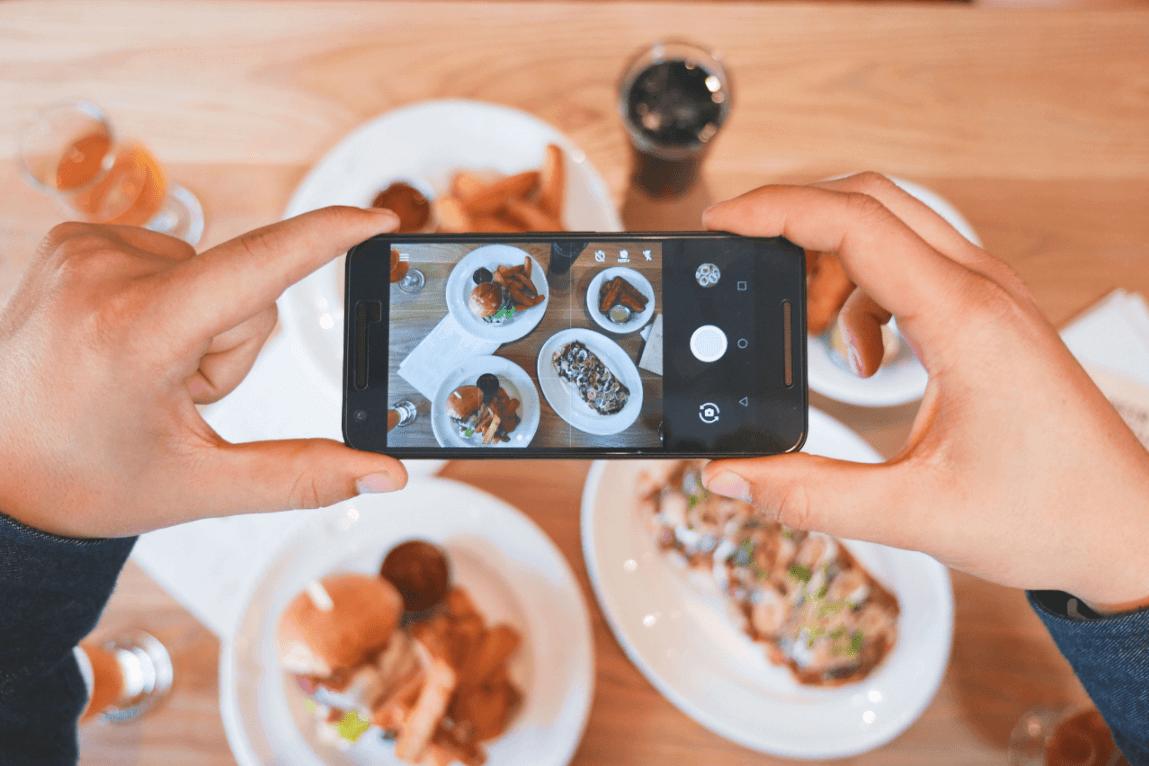 compartir alimentación en redes sociales