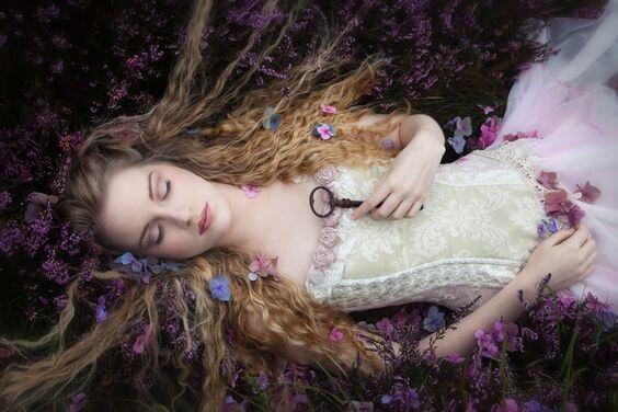 Bella durmiente simbolizando los cuentos clásicos
