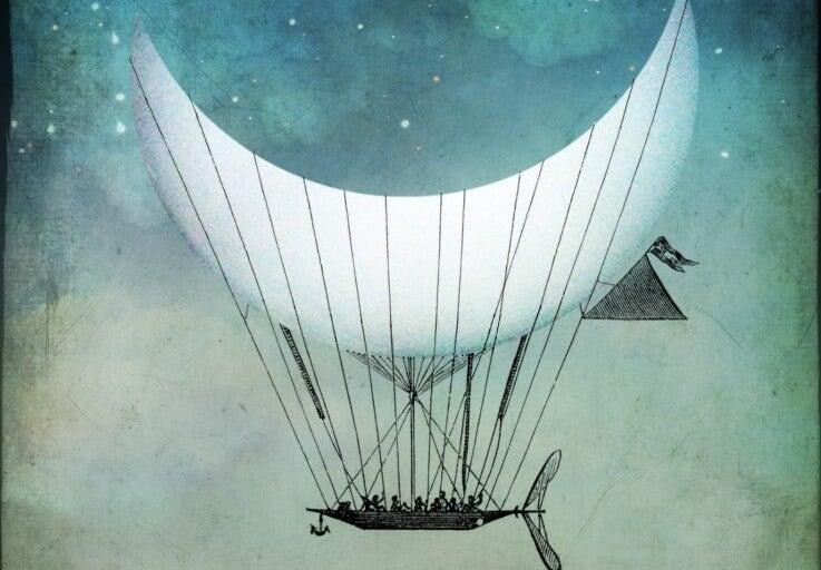 luna representando la huída del conflicto