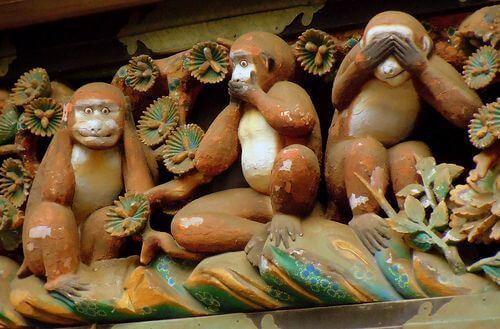 Imagen de los tres monos sabios