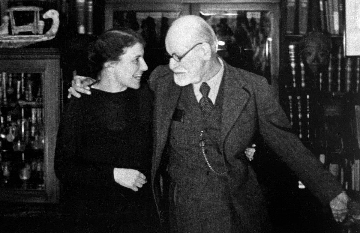 Anna Freud con su padre
