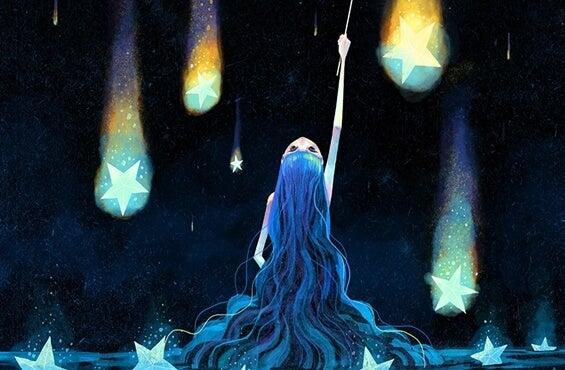 chica con estrellas
