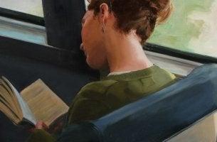 chica que lee libro