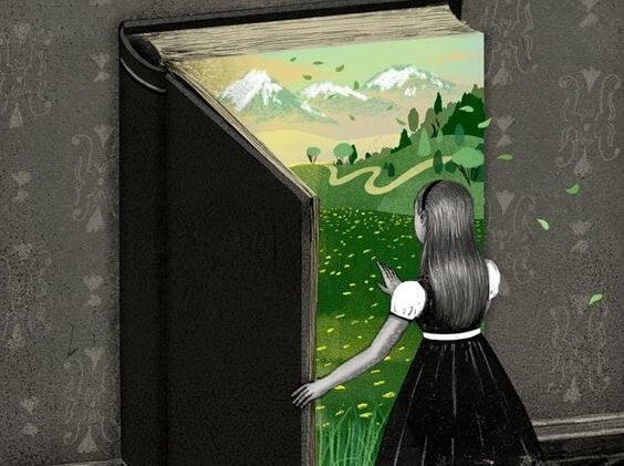 Chica abriendo un libro