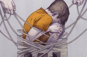 niño que vive con la violencia