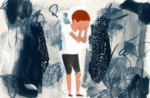 niño víctima de una relación tóxica