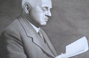 Alfred Adler leyendo