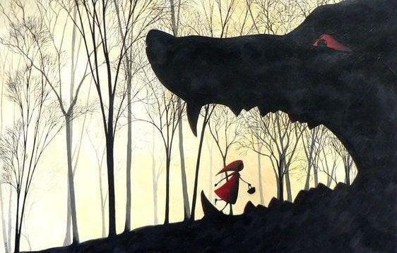 Caperucita con el lobo