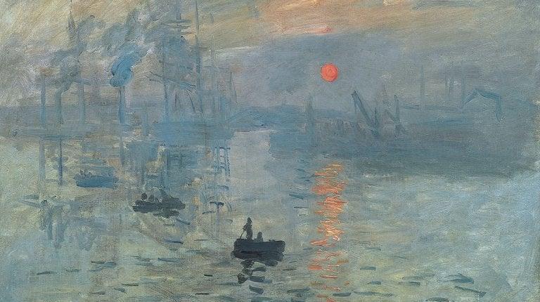 Pintura el sol naciente de Monet