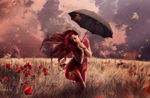 Mujer con fantasías