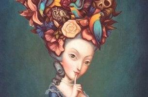 Mujer representando coacción y chantaje
