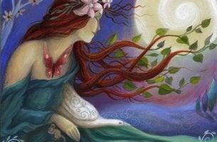 mujer que está conectada a su dolor
