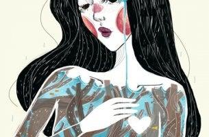 mujer que se mide la escala de la autoestima