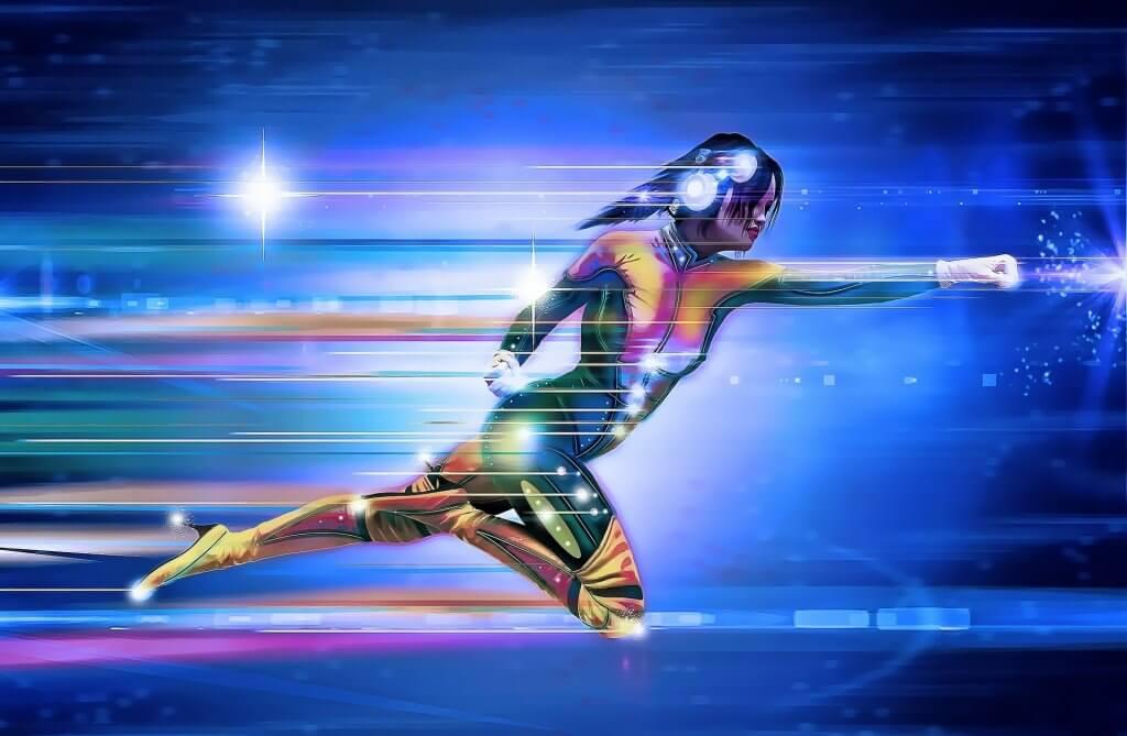 Superheroína volando