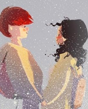 pareja a la que le gusta escuchar lo que significan el uno para el otro