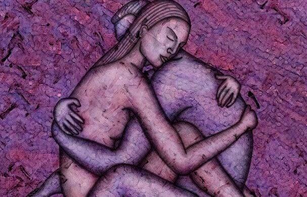 Pareja unida en un abrazo sintiendo un amor verdadero