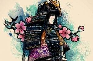 samurai simbolizando parábola de las flores sin aroma