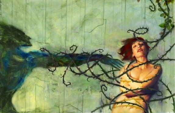 Mujer atacada por vampiros emocionales