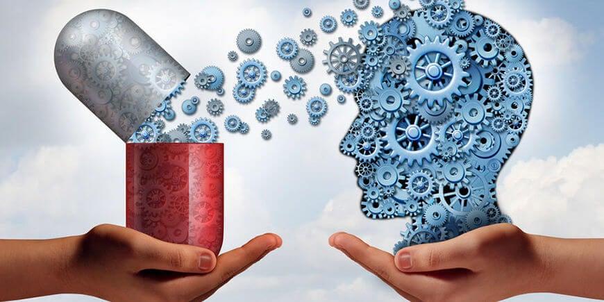 Cerebro con fármacos