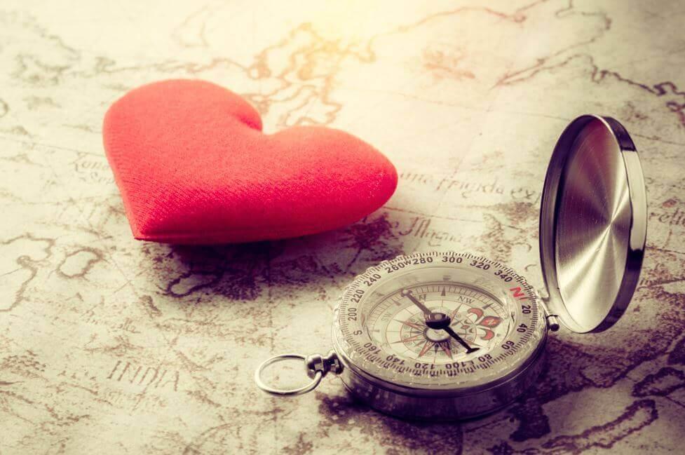 Corazón y brújula